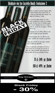 Black Friday tilbud fra Bergs Vinimport
